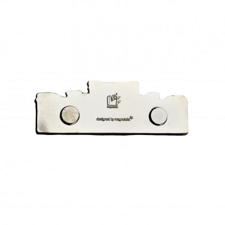 Magnet de frigider argintiu - suvenir Bucuresti MB282