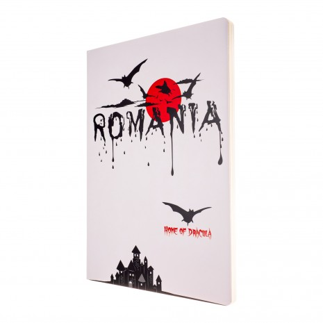 Agenda nedatata Dracula - Romania, foi albe, A5 - 14,9 x 21 cm, 160 pg, MB247 B1