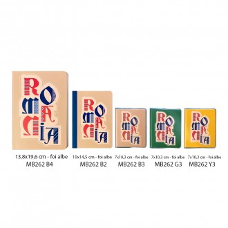 Agenda nedatata Romania, foi albe, 13,8 x 19,6 cm, 144 pg, MB262 B4