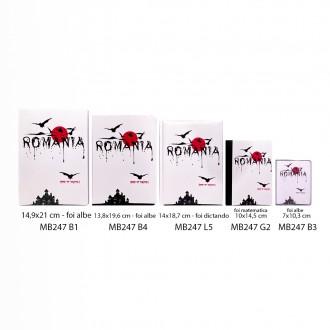 Agenda nedatata Dracula - Romania, foi matematica, 10 x 14,5 cm, 144 pg, MB247 G2
