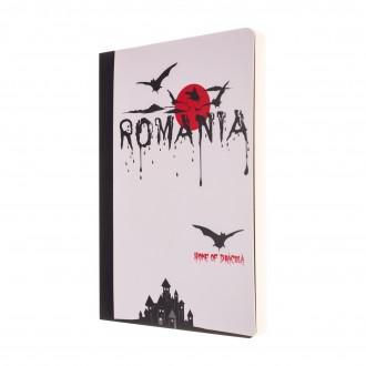 Agenda nedatata Dracula - Romania, foi albe, 10 x 14,5 cm, 144 pg, MB247 B2