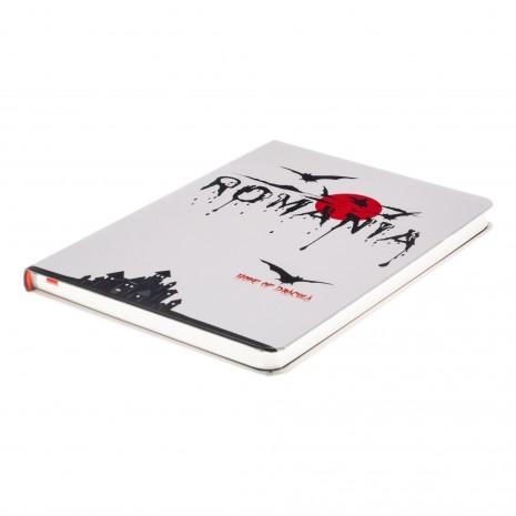 Agenda nedatata Dracula - Romania, foi albe, 13,8 x 19,6 cm, 144 pg, MB247 B4