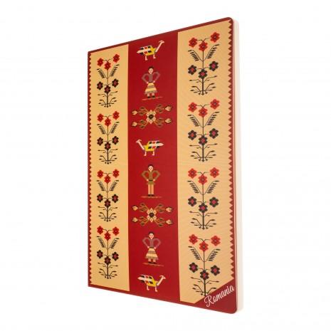 Agenda nedatata Motive florale, foi albe, A5 - 14,9 x 21 cm, 160 pg, MB249 B1
