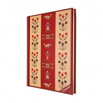 Agenda nedatata Motive florale, foi albe, 14 x 18,7 cm, 144 pg, MB249 B5