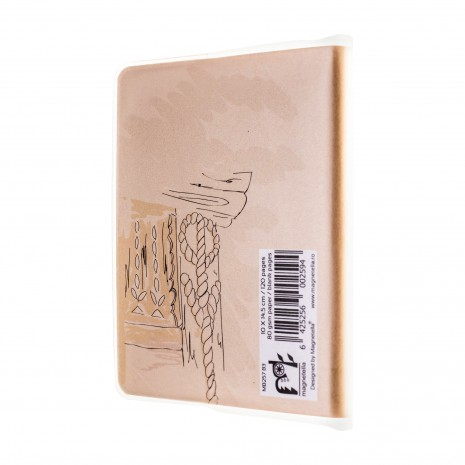 Agenda nedatata de buzunar, Satul romanesc, foi albe, 7 x 10,3 cm, 120 pg, coperta transparenta, MB257 B3