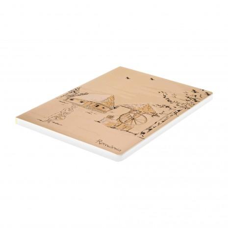 Agenda nedatata Satul romanesc, cotor galben, foi albe, 14,9 x 21 cm, 160 pg, MB257 Y1