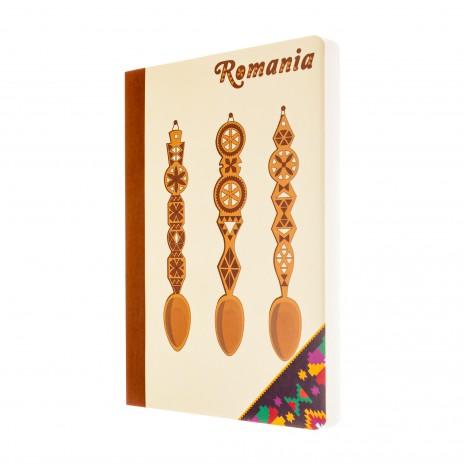 Agenda nedatata, Mestesug romanesc, foi albe, 10 x 14,5 cm, 144 pg, MB260 B2
