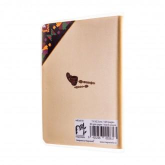 Agenda nedatata de buzunar, Mestesug romanesc, foi albe, 7 x 10,3 cm, 120 pg, coperta transparenta, MB260 B3