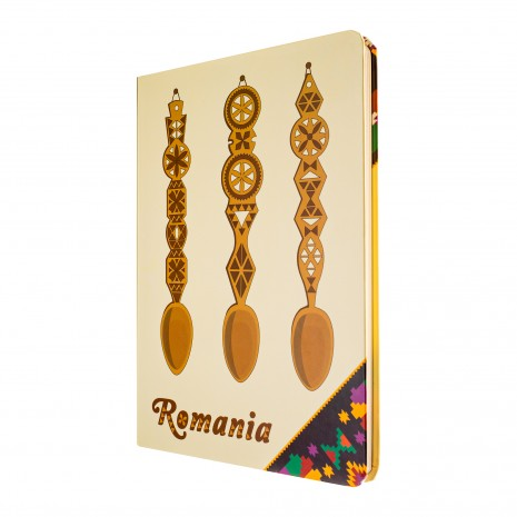 Agenda nedatata, Mestesug romanesc, foi albe, 13,8 x 19,6 cm, 144 pg, MB260 B4