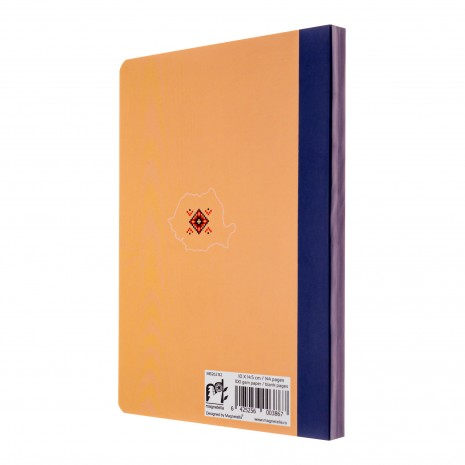 Agenda nedatata Romania, foi albe, 10 x 14,5 cm, 144 pg, MB262 B2