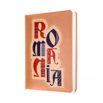 Agenda nedatata de buzunar, Romania, foi albe, 7 x 10,3 cm, 120 pg, coperta transparenta, MB262 B3