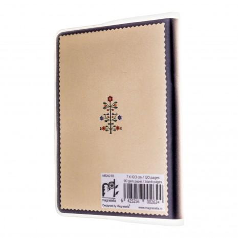 Agenda de buzunar nedatata, Pomul vietii, foi albe, 7 x 10,3 cm, 120 pg, coperta transparenta, MB263 B3