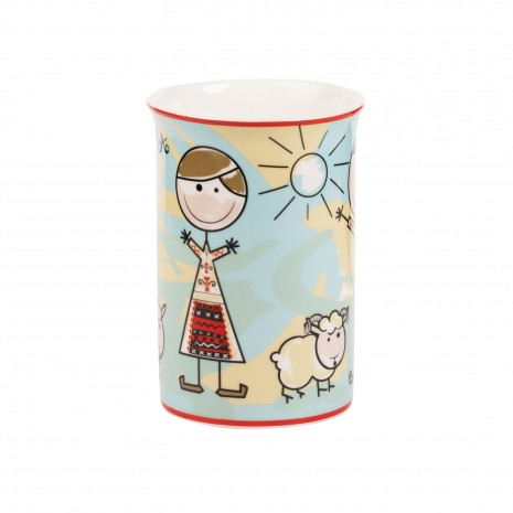 Cana din portelan, Copii in costum popular, 266 ml, MB288