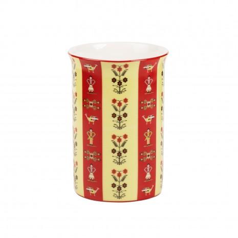 Cana din portelan, Motive florale, 266 ml, MB290