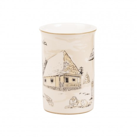 Cana din portelan, Satul romanesc, 266 ml, MB292