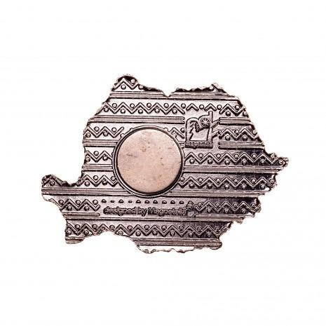 Magnet de frigider - suvenir, Harta Romaniei, MB054