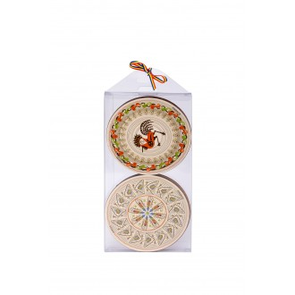 Suporturi de pahare - cadouri traditionale romanesti, Horezu, MB026