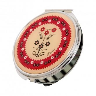 Oglinda cadou/suvenir, motive florale traditionale, MB091