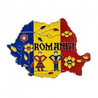 Magnet de frigider Romania, tricolor, MB053