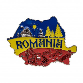Magnet de frigider - suvenir, Steagul Romaniei, MB055