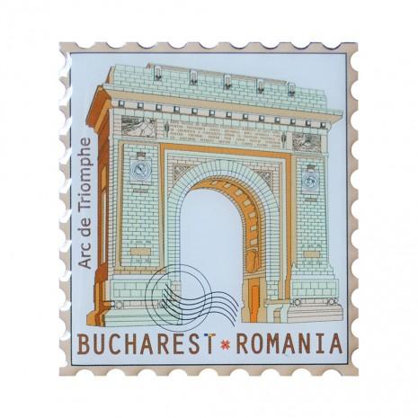 Magneti de frigider - suvenir Bucuresti, fundal beige, MB279
