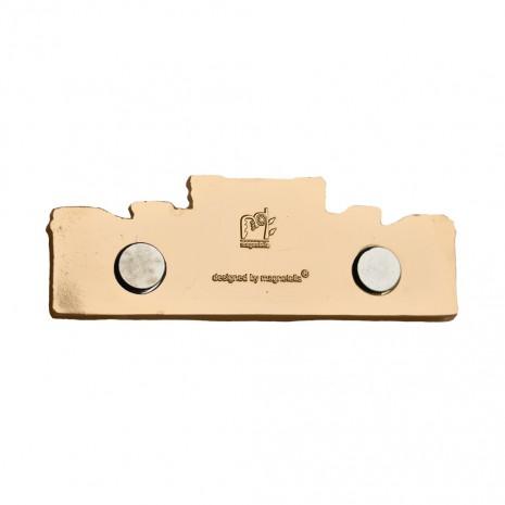 Magnet de frigider auriu - suvenir Bucuresti MB281