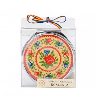 Oglinda cadou/suvenir, motive florale traditionale, MB144