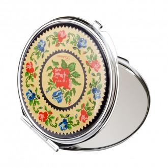 Oglinda cosmetica, motive florale traditionale, MB144