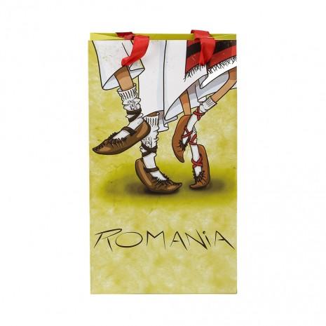 Punga din hartie - Cadou traditional Romania, Dans Popular, 15 x 26 x 8,5 cm, MB153 D1