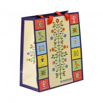Punga din hartie - Cadou traditional Pomul vietii, 21 x 24 x 10 cm, MB158 D2