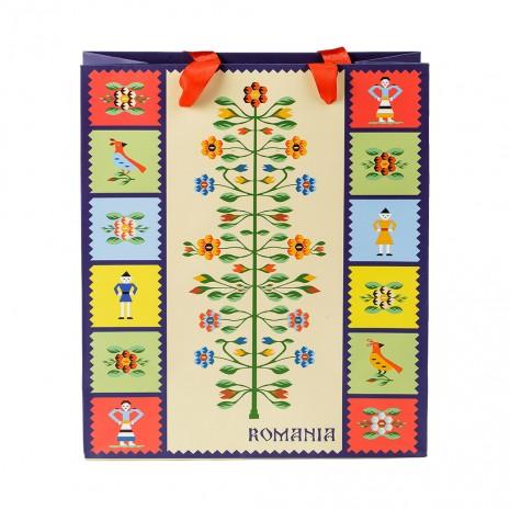 Punga din hartie - Cadou traditional Pomul vietii, 26 x 32 x 10 cm, MB158 D4