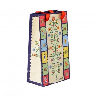 Punga din hartie - Cadou traditional Pomul vietii, 15 x 26 x 8,5 cm, MB158 D1