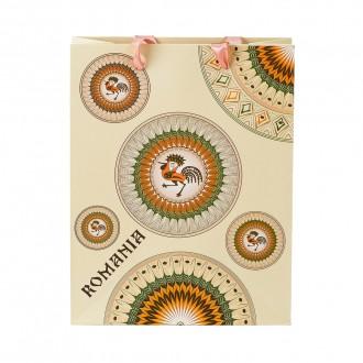 Punga din hartie - Cadou traditional Horezu, 23,5 x 24 x 10 cm, MB163 D2
