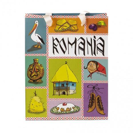 Punga din hartie - Cadou traditional Romania, 23,5 x 24 x 10 cm, MB208 D2