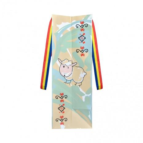 Punga din hartie - Cadou traditional, Costum Popular, 15 x 23 x 8,5 cm, MB213 D1