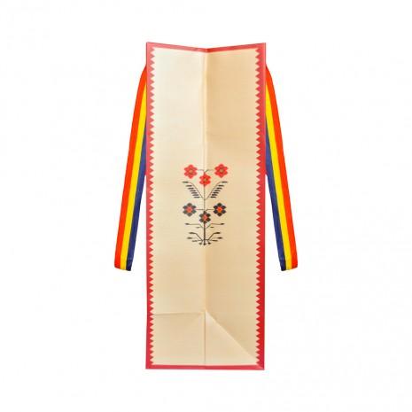 Punga din hartie - Cadou traditional Motive florale, 15 x 23 x 8,5 cm, MB223 D1
