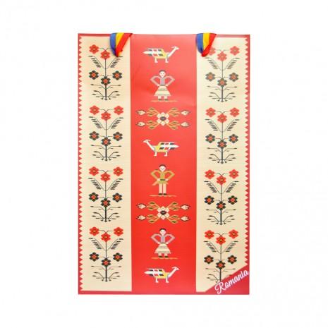 Punga din hartie - Cadou traditional Motive florale, 26 x 32 x 10 cm, MB223 D4