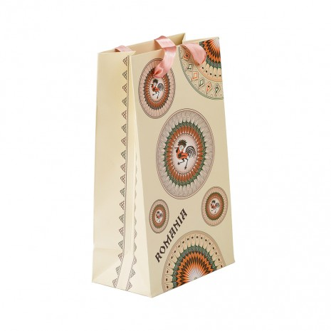 Punga din hartie - Cadou traditional Horezu,15 x 26 x 8,5 cm, MB163 D1