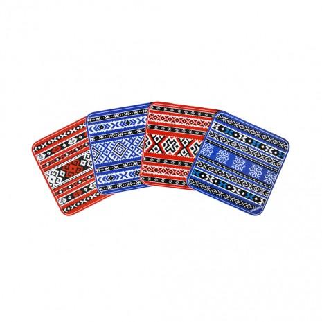 Set 4 suporturi de pahare - cadou/suvenir traditional, Stergare Romanesti, MB113
