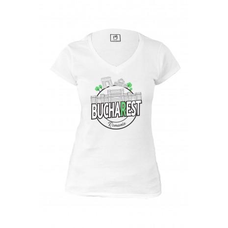 Tricou Bucuresti, suvenir, 100% bumbac, MB334