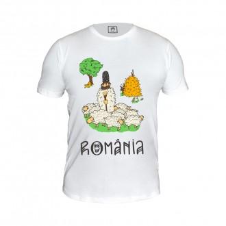 Tricou Romania, peisaj rural, 100% bumbac, MB175