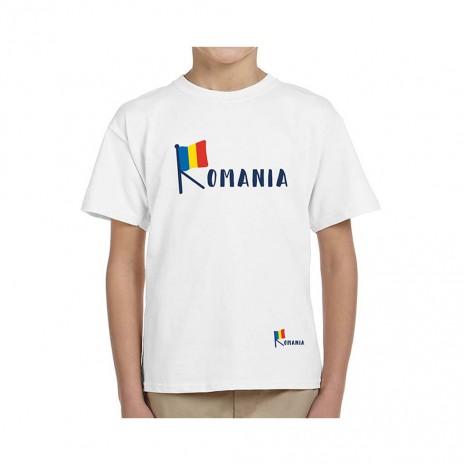 Tricou Copii, Romania - Tricolor, suvenir, 100% bumbac, MB195