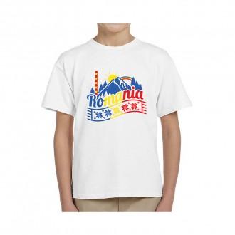 Tricou Copii - cadou Romania, Peisaj Pitoresc, 100% bumbac, MB329