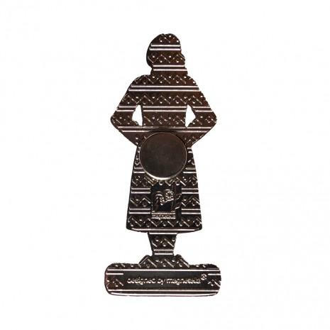 Magnet de frigider - suvenir Fata in cotum popular, MB075