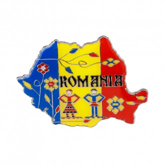 Magnet de frigider - suvenir, Drapelul Romaniei, MB053