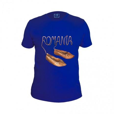 Tricou Romania - Opinci, suvenir, 100% bumbac, MB294